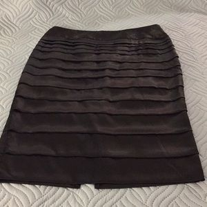 Dalia Collection black ruffled skirt